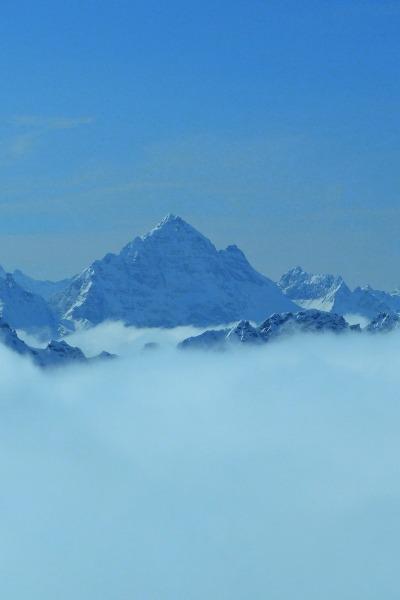 Winter in den Allgäuer Alpen Der Hochvogel (2.592 m)