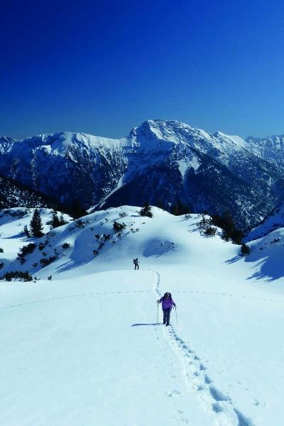 Schneeschuhtour auf die Hochplatte (2.082 m) Ammergauer Alpen
