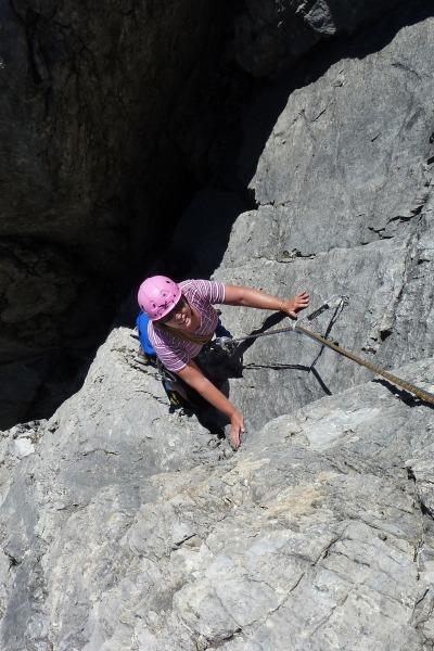 Klettern am Parzinnturm, Lechtaler Alpen