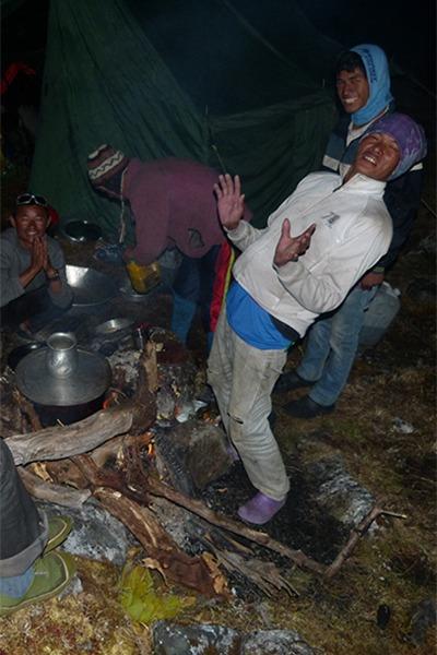 Nachtlager in Nepal