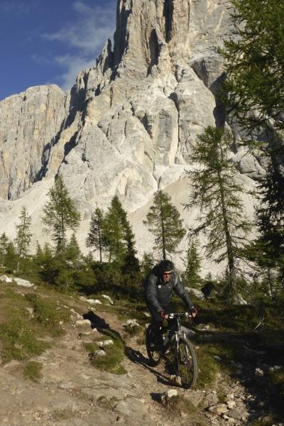 Mountainbiken unter der Civetta