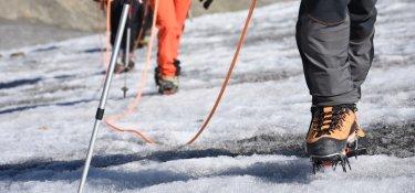 2. Tag - Für den Aufstieg über den Gletscher benötigen wir Hochtourenausrüstung