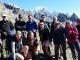 Tour du Mont Blanc 4. Tag - Gruppenbild am Col de la Seigne (2.516 m) mit dem Mont Blanc im Hintergrund