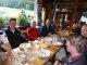Tour du Mont Blanc 5. Tag - Das Abendessen im gemütlichen Relais d'Arpette ist typisch schweizerisch