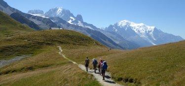 Tour du Mont Blanc 7. Tag - Aussichtsreicher Wanderweg zum Col de Balme