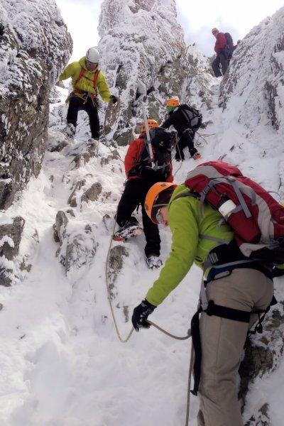 Winterliche Kletterei Piz Buin 2916