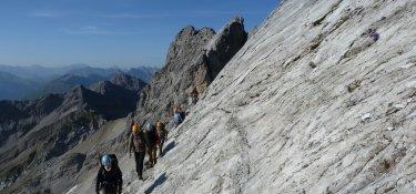 2. Tag - Auf dem Heilbronner Höhenweg sind Trittsicherheit und Schwindelfreiheit gefragt
