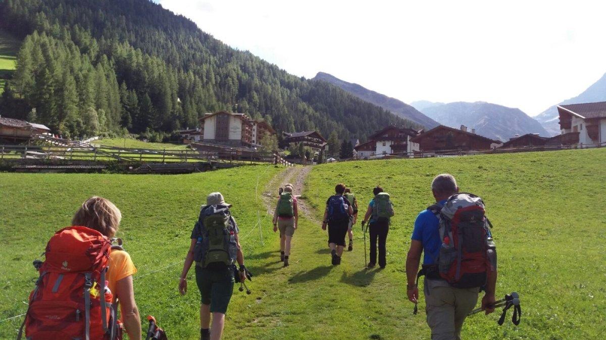 6. Tag - Start von Pfelders zu unserer letzten Etappe