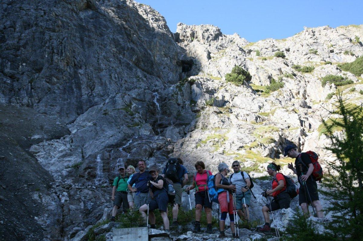 3. Tag - Gruppenbild beim Aufstieg zum Kaiserjoch