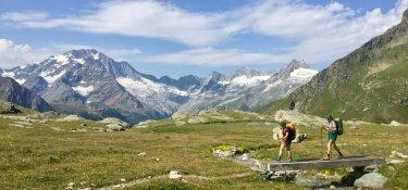 Wandern auf dem Wandern auf dem schönsten Höhenweg des Veltlins