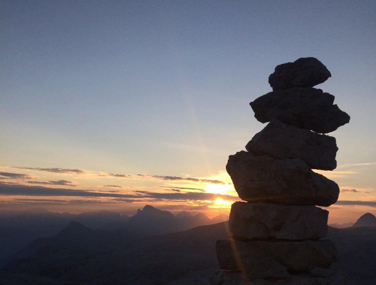 Dolomiten Höhenweg 2 Abendstimmung 3