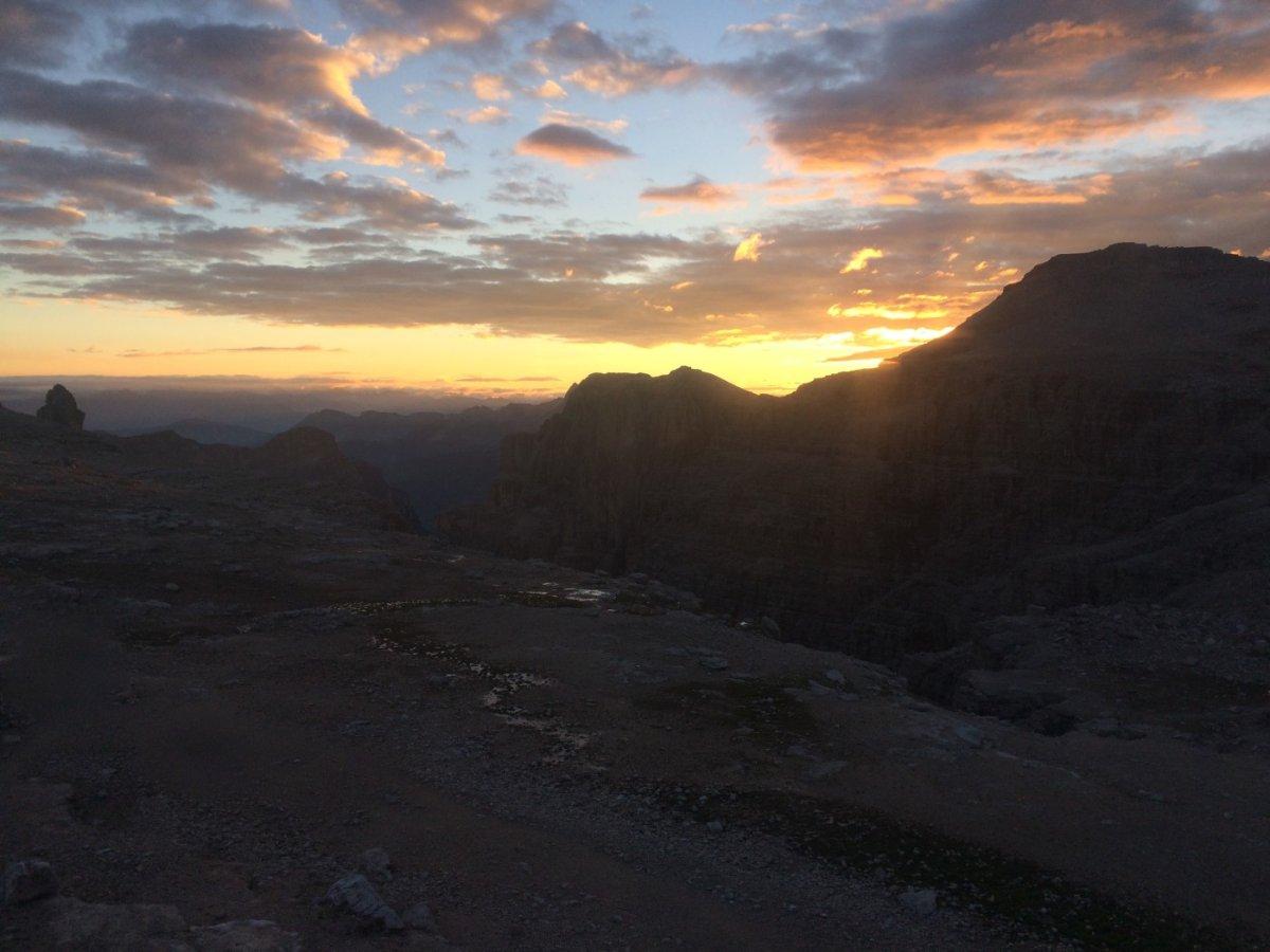 Dolomiten Höhenweg 2 Abendstimmung 1