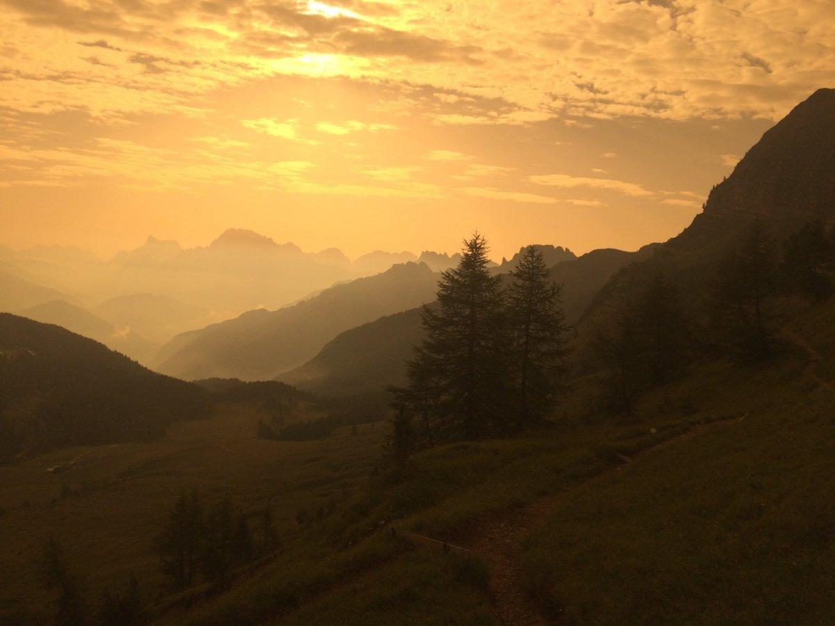 Dolomiten Höhenweg 2 - Abendstimmung