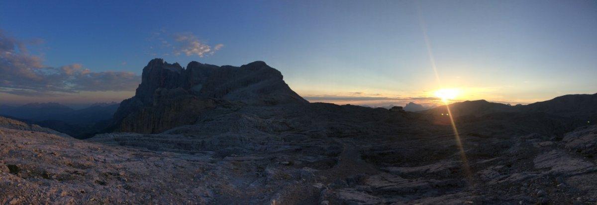Dolomiten Höhenweg 2 Abendstimmung 4