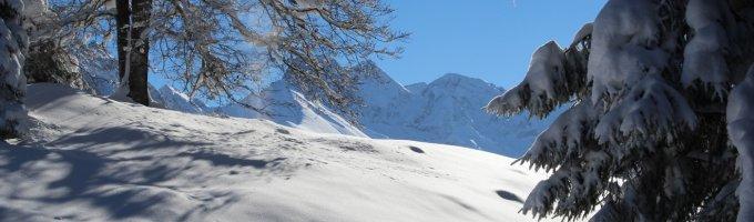 Traumhafte Ausblicke im Schnee