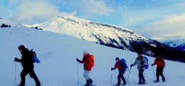 Schneeschuhwandern vor dem Ifen