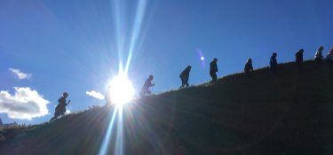 Leichter Aufstieg ohne Rucksack