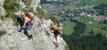 2. Tag - Bergschuhe mit guter Profilsohle sind im Klettersteig Pflicht