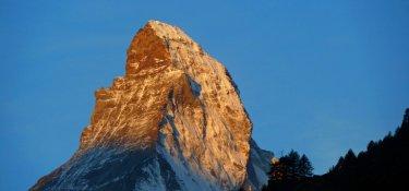 6. Tag - Alpenglühen am Matterhorn am frühen Morgen
