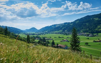 Oberstaufen- Blick auf Thalkirchdorf