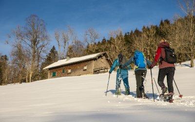 Oberstaufen-Winter Schneeschuh Hütte