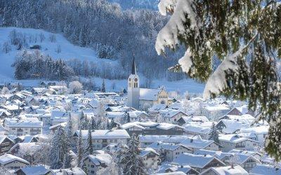 Oberstaufen-Natur Oberstaufen Ortsansicht 2019 01 1-on