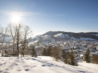 Winterliche Ausblicke auf Oberstaufen