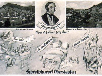 Postkarte Schrothkurort Oberstaufen