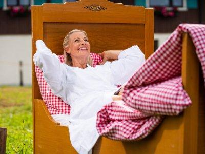 Ein Bett in Oberstaufen