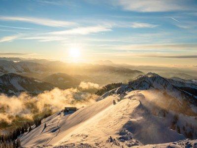 Sonnenuntergang im Winter am Hochgrat