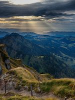 Blick vom Hochgrat Richtung Falken bis Bodensee