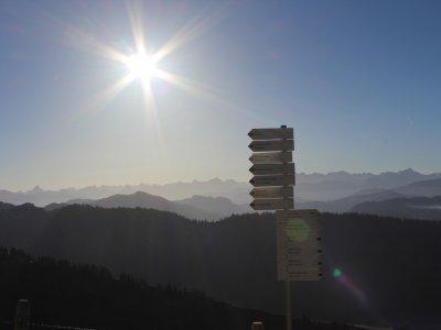 Alpenpanorama an der Hochgrat-Bergstation