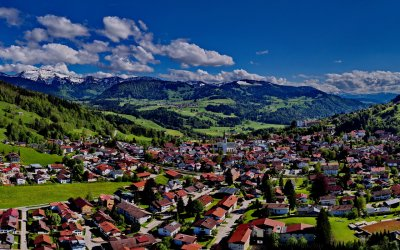 Oberstaufen-Panorama im Sommer