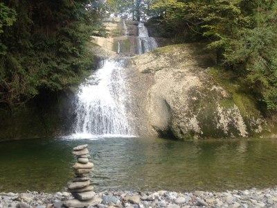 Der Eibele-Wasserfall in Oberstaufen
