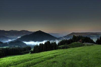 Blick von der Juget oberhalb von Oberstaufen