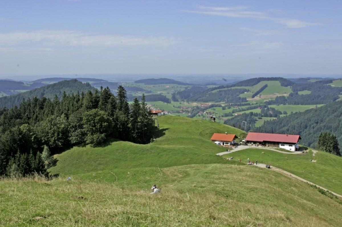 Blick vom Hündle-Gipfel