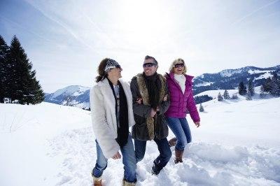 Freude beim Winterwandern
