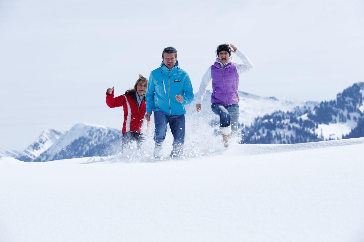 Spaß im Schnee - Winterwanderung in Oberstaufen