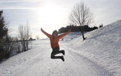 Andrea Presser auf dem Winterwanderweg
