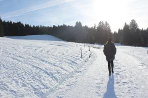 Lena auf dem Kapfwaldweg