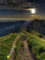 Sonnenaufgang über den Allgäuer Alpen