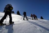 Oberstaufen Schneeshuhwandern Gruppe