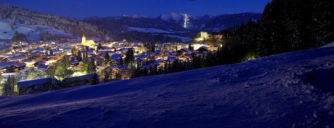 Einzigartiges Nachtpanorama über Oberstaufen