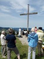 Berggottesdienst am Gipfelkreuz Hündle