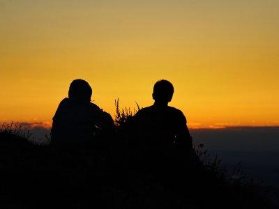 Sonnenuntergang auf dem Hochgrat