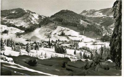 Alte Ortsansicht von Oberstaufen