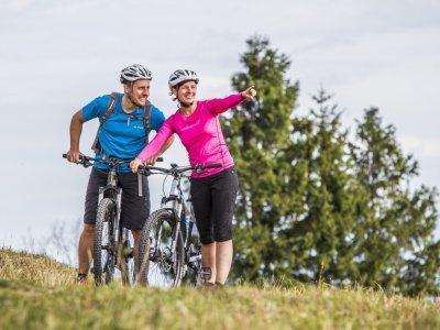Traumhafte Aussicht beim Biken