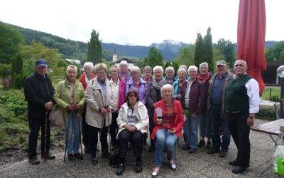 Dorothea Juentgen und Ordrun Seeger mit der Senioren Wanderfreizeit