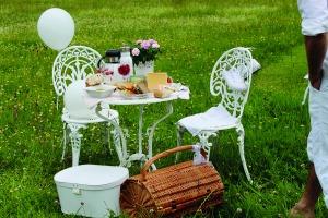 Picknick in Weiß