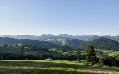 Oberstaufen-Panorama Nagelfluhkette